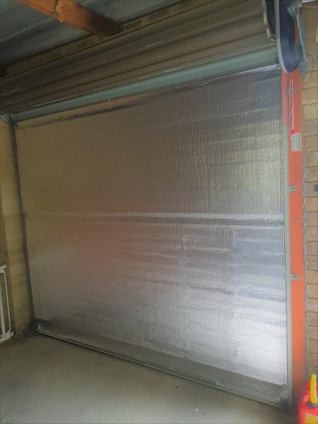 Sample of an insulated roller door